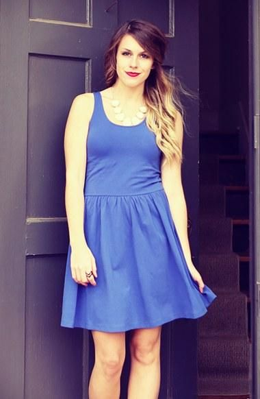 Pop of color summer dress. find more women fashion ideas on www.misspool.com