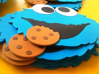 NADetalles : INVITACIONES COOKIE MONSTER
