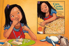 Cora Cooks Pancit by Dorina K. Lazo Gilmore: Sweet children's story with beautiful illustrations about a young girl who helps her mother cook pancit. We have this book for O. Pancit is one of her favorite Filipino foods. :-)