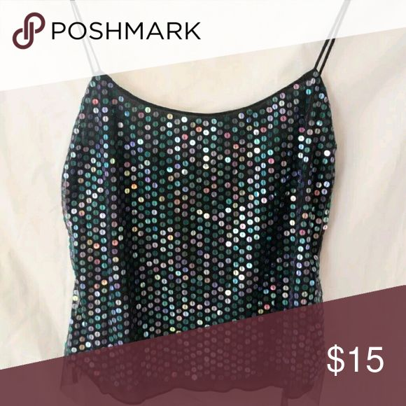 Vivienne Tam Size Small Sequin Tank Top Beautiful top, in perfect condition   Smoke and pet free home Tops Tank Tops
