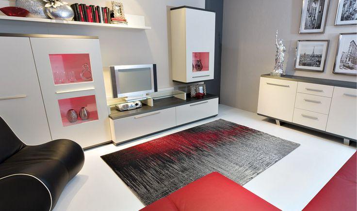 tappeto rosso e nero disegno digitale