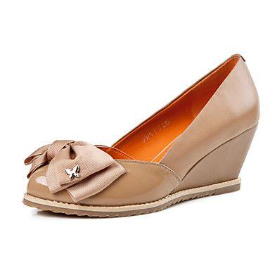 Ruxi confortáveis Bow Cunhas decorativa Calçados (Camel) – BRL R$ 88,27