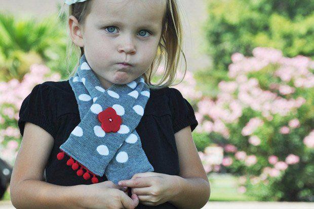 sciarpa bambini fatta a mano