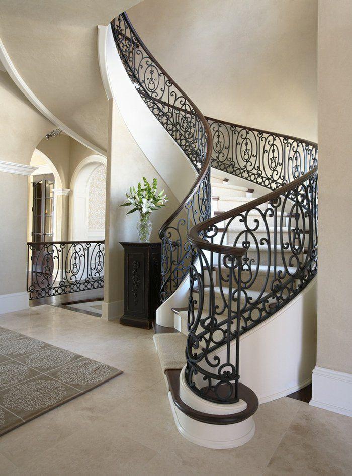 Les 50 meilleures images propos de escalier sur pinterest baroque pastel - Entree avec escalier ...