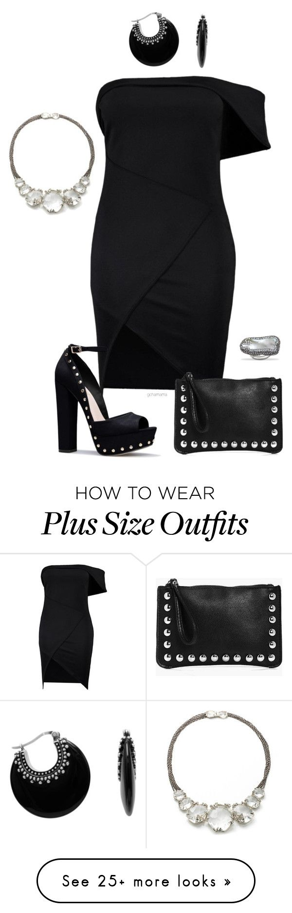 """""""Dark side- plus size"""" by gchamama on Polyvore featuring Boohoo and Alexis Bittar"""