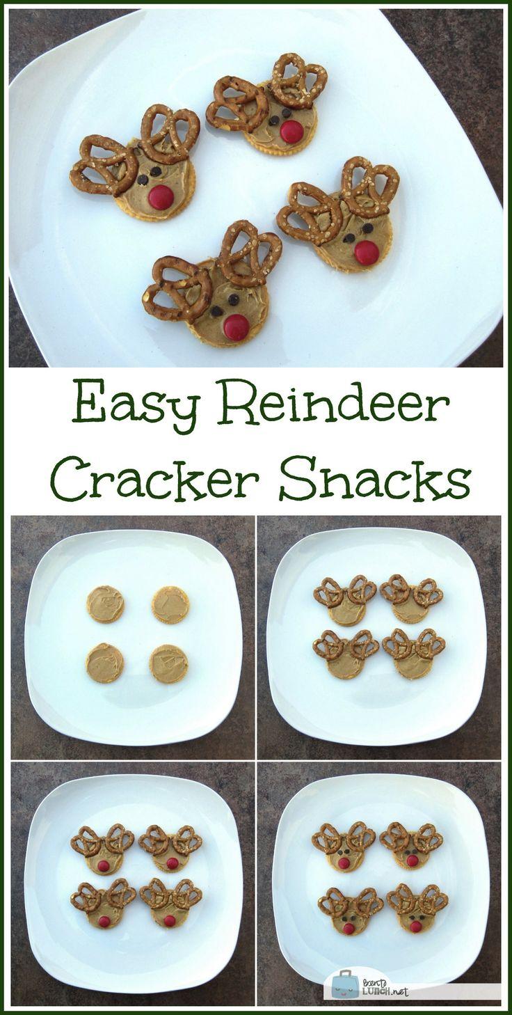 Easy Reindeer Cracker Snacks