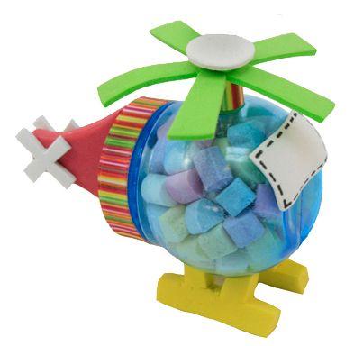 Regalo para niños / Fiestas infantiles / Dulceros / Dulces / Helicóptero