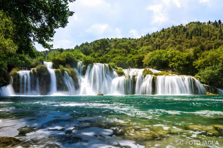 Krka Nationalpark  Krka Waterfalls, Juli 2015
