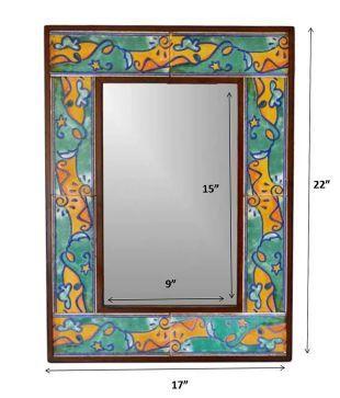 Artlivo Handcrafted Decorative Bathroom Tile Mirror Frame