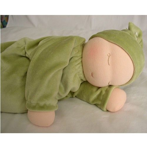 In my experience, these are the best baby dolls for toddlers.  Heavy babies are filled with millet and lavender.  They have a calming, therapeutic effect on young children.  Worth every penny!