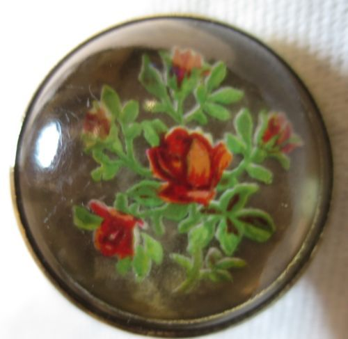 Victorian-Glass-Domed-Brass-Horse-Bridle-Rosette-Flowers