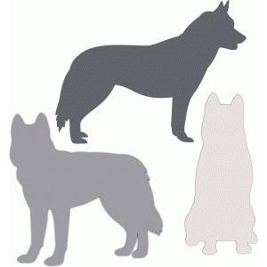 Silhouette Design Store: husky siberian dog set