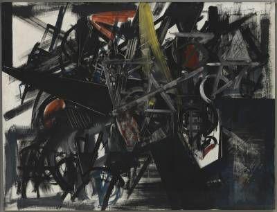 Immagine del tempo (Sbarramento), Emilio Vedova, 1951 #arte