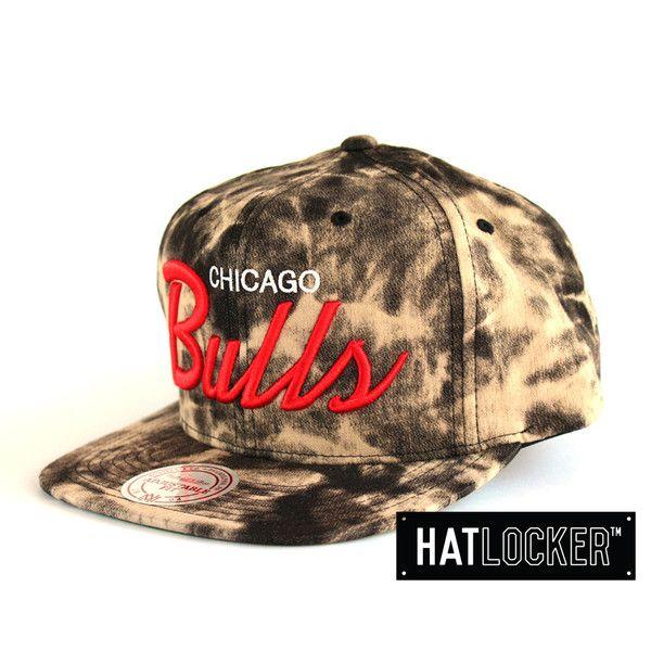 Chicago Bulls Dyed Denim Snapback by Mitchell & Ness | Find it at www.hatlocker.com