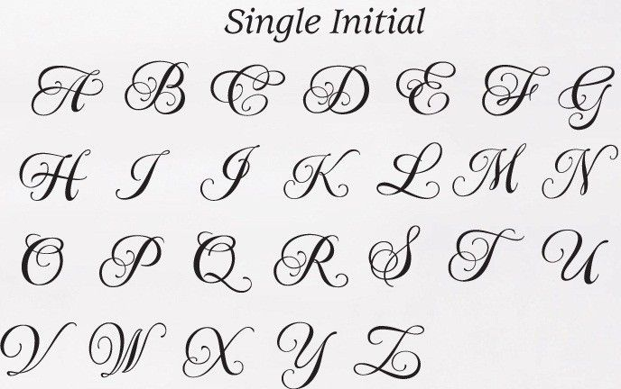 Font styles crystal clear monogram wedding cake toppers