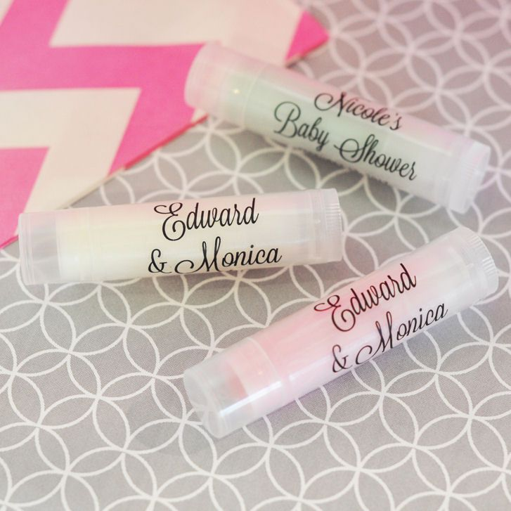 bridal shower keepsake book%0A Lip Balm Tubes make unique bridal shower favors  Lip Balm Favors have  homemade feel  come complete with custom lip balm labels  All natural  u      infused