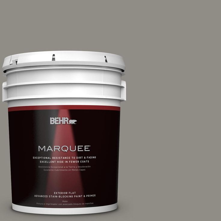 BEHR MARQUEE 5 gal. #PPU24-08 Parador Stone Matte Exterior Paint