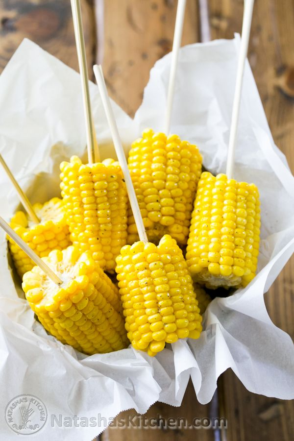 Quick and easy corn on the cob; a staple recipe for summer.  @NatashasKitchen