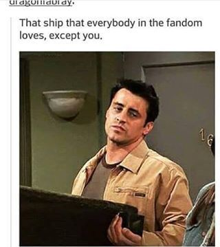 This is me when it comes to Cherik in the X-men fandom. I just like Moira and Charles together as a couple!