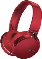 Sony - Extra Bass Wireless Over-the-Ear Headphones - Red - Angle Zoom