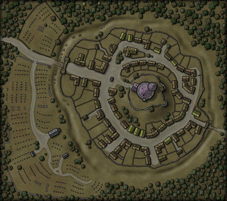 map maps forest fantasy rpg town village 5e dungeon hill battle keep border hillside google road dd hilltop