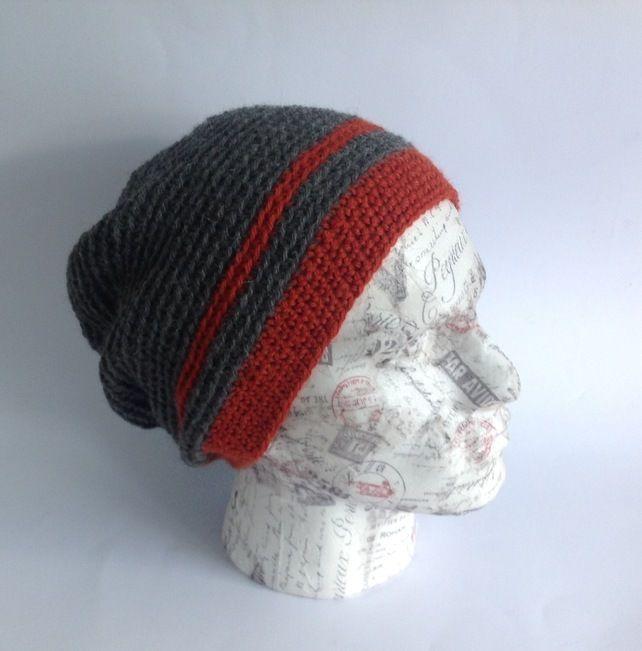 14fa227536b MENS Slouch Hat .Alpaca and wool blend. Crocheted .  Terrain .  £19.00