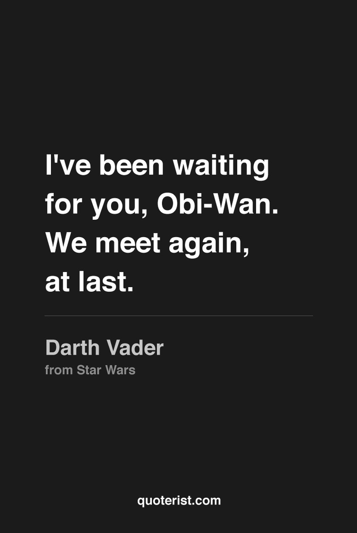 so we meet again obi wan