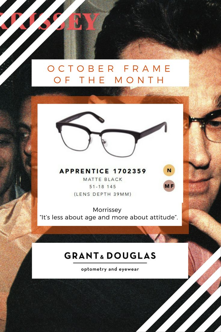 Oct 2017 Morrissey Apprentice. Morrissey believes people wear his sunglasses to feel like a rock star, not to keep the sun from their eyes.
