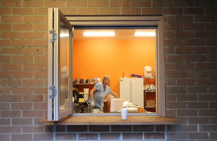 Easy access window at the St Saviour's Soup Kitchen in Redfern, sydney, design by Bijl Architecture