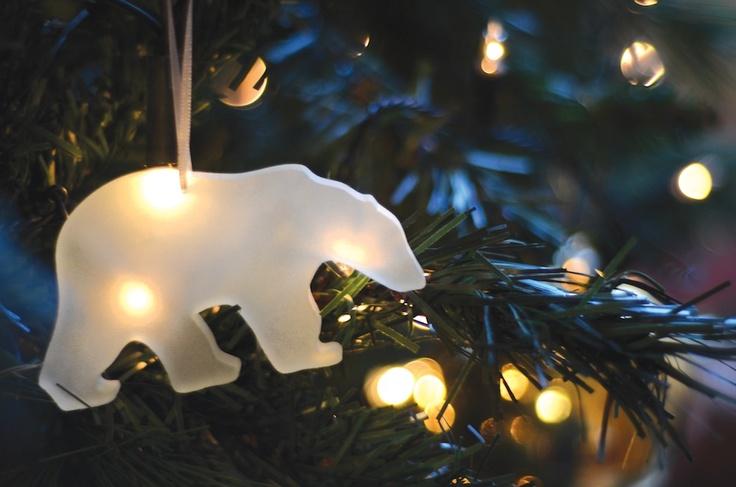 Water-Jet Cut Glass Polar Bear by Matthew Otten  www.matthewotten.co.uk