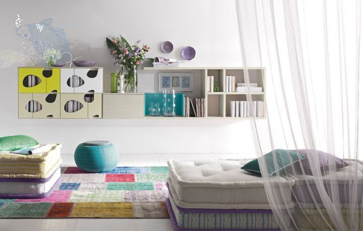 Modern design nappali kompozíció - www.montegrappamoblili.hu
