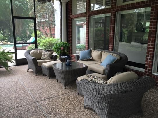 Martha Stewart Living Lake Adela Weathered Gray 6-Piece Patio Seating Set with Sand Cushions 0482100440 at The Home Depot - Mobile