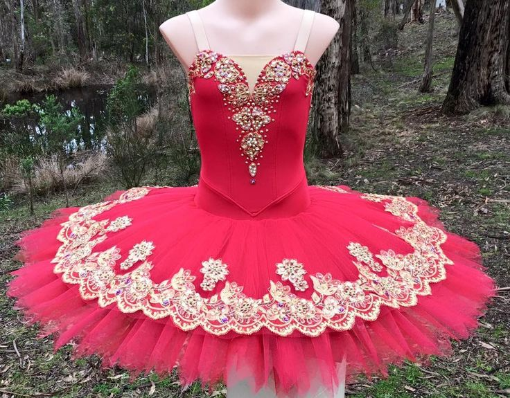 Red and gold stretch tutu. Tutus by Dani Australia