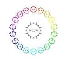 Rainbow Sun Ring by silverjade