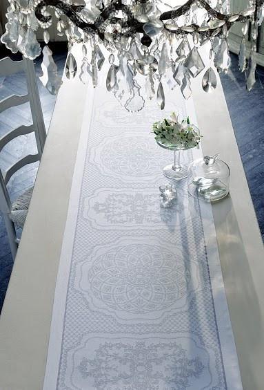 Soubise Albatre Extra Long Table Runner
