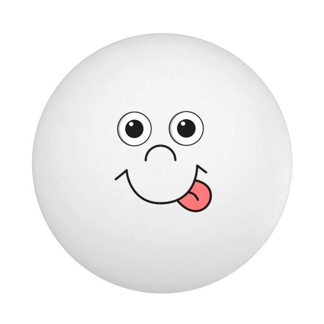 Cartoon Face Ping Pong Ball Funnysmilingcartoon Pingpongball Tennis Sports Tennisplayer Personalize Printondemand Ping Pong Cartoon Faces Ping Pong Balls