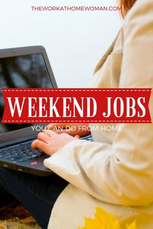 Looking for ways to earn extra money? Here are a bunch of remote, weekend job ideas for you -- so you don't have to be away from your family.  via @hollyrhanna