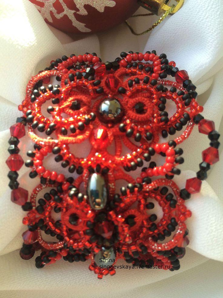 Купить Кружевной браслет фриволите - Браслет ручной работы, красивый подарок, красивый браслет