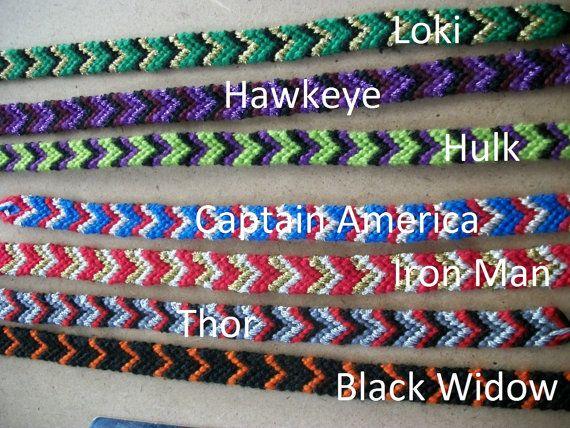 1 Avengers-inspired Friendship Bracelet – Fandom and bandom Jewelry