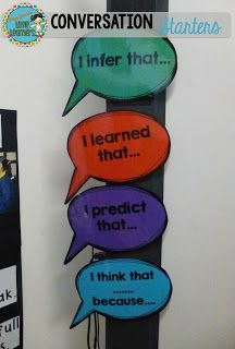 Conversation Starters, oral langage, sentence starters, FREE, Miss Jacobs Little Learners