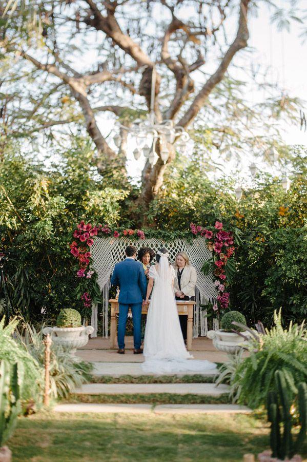Casamento Boho/Rústico no Jardim – Lívia & Adriano | Lápis de Noiva