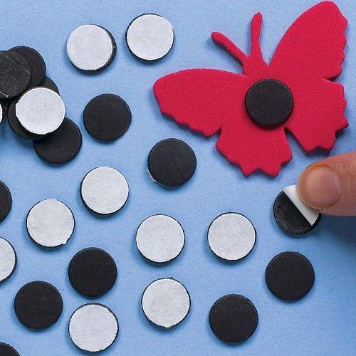 Samolepicí magnetky na dekorace 150ks