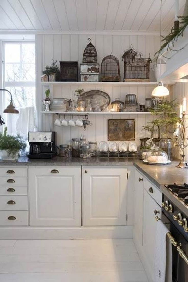 36 best no upper kitchen cabinets images on pinterest home pretty cottage style kitchens no upper cabinets just tons of shelves