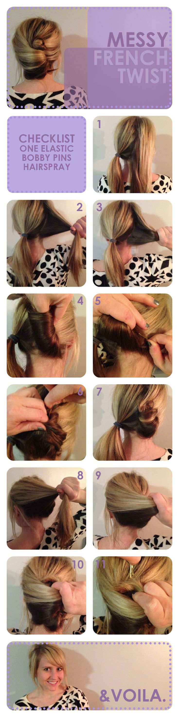 messy french twist! easy #hair tutorial - pin now, try later!