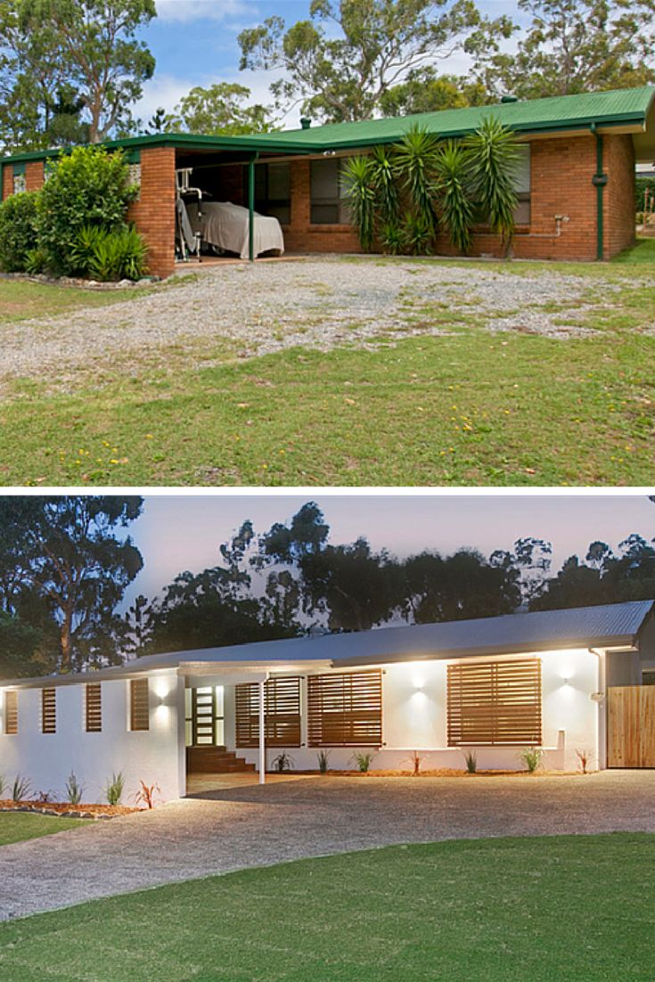 Renovated ugly brick facade - before and after. From Hotspace Consultants