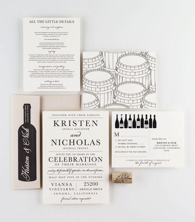 the 25+ best winery wedding invitations ideas on pinterest, Wedding invitations