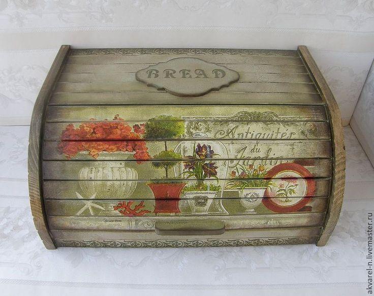 """Купить Хлебница """"Античная"""" - оливковый, хлебница, хлеб, хлебница днревянная, хлебница декупаж, хлебница из дерева"""