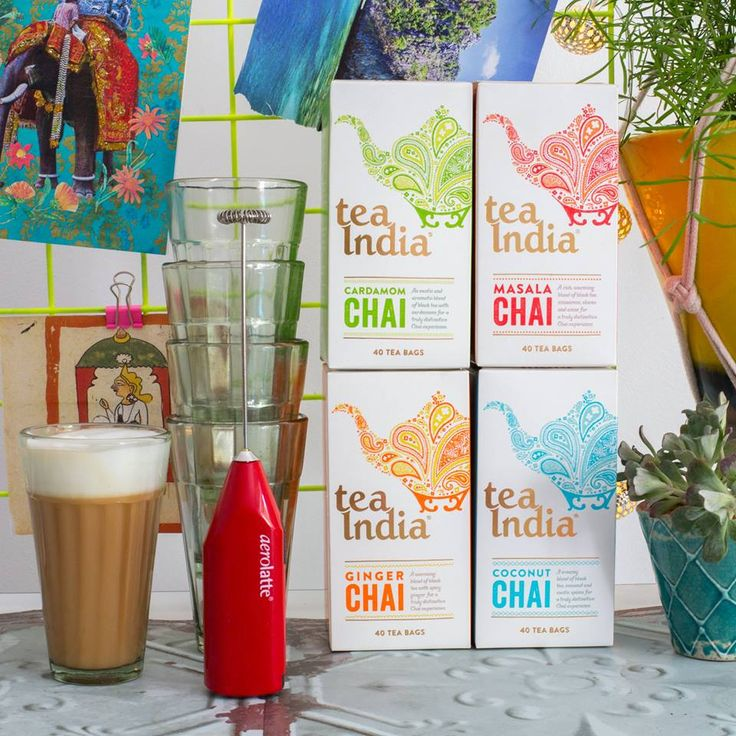 Our Chai Glasses in promo with @teaindiauk