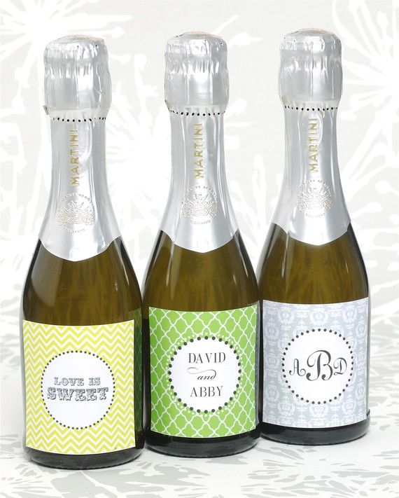 I do not like this particular application but it is a rebound from one of your pins. I rather like the idea of making the invite have a little wow factor... possibly creating custom mini champagne bottle labels.