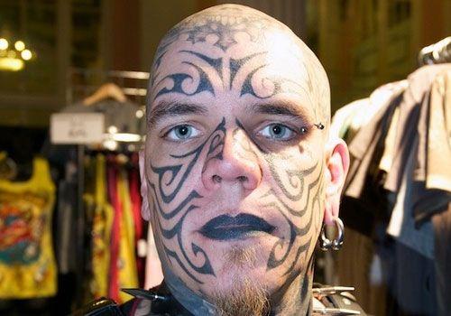 tattoo-tribal ~ http://heledis.com/beautiful-face-tattoo-designs/
